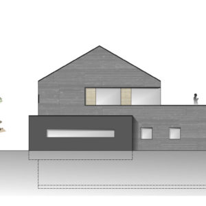 Wohnhaus Ansicht Skizze Planung