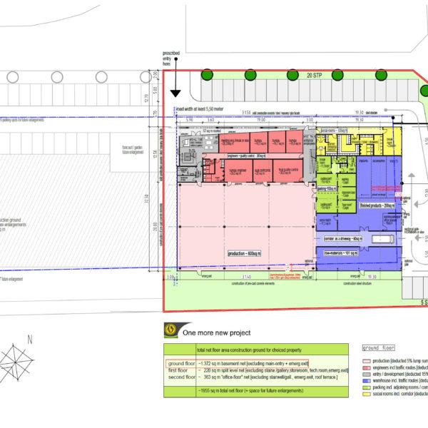 Betriebsgebäude FFM1 Skizze