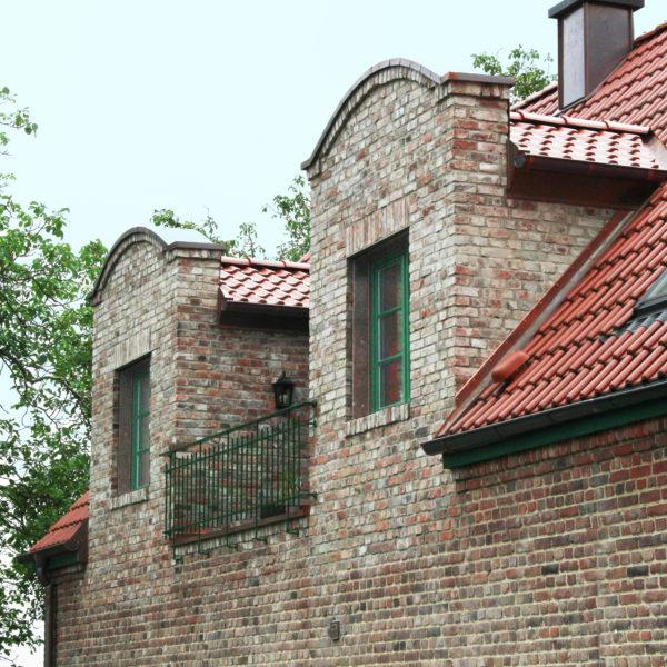 Gutshaus Detail Dach Fenster